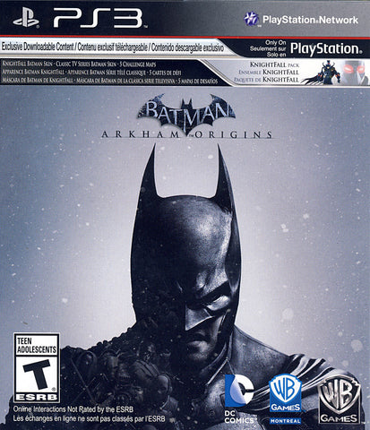 Batman - Arkham Origins (PLAYSTATION3) PLAYSTATION3 Game