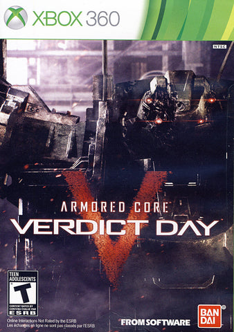 Armored Core - Verdict Day (Bilingual Cover) (XBOX360) XBOX360 Game