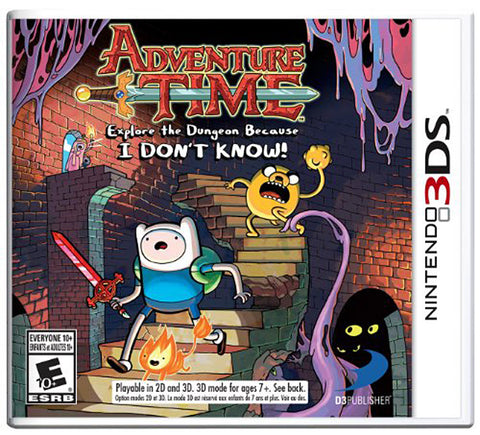 Adventure Time - Explore the Dungeon Because I DON T KNOW! (Trilingual Cover) (3DS) 3DS Game