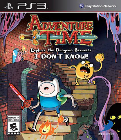Adventure Time - Explore the Dungeon Because I DON T KNOW! (Trilingual Cover) (PLAYSTATION3) PLAYSTATION3 Game