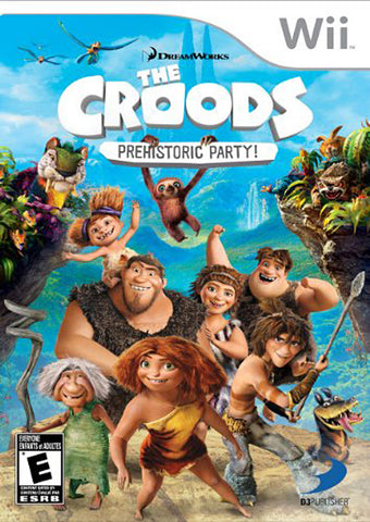 The Croods - Prehistoric Party! (Trilingual Cover) (NINTENDO WII) NINTENDO WII Game