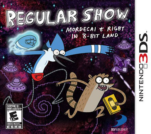 Regular Show - Mordecai and Rigby (Trilingual Cover) (3DS) 3DS Game