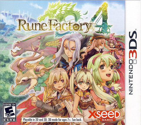 Rune Factory 4 (3DS) 3DS Game