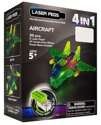 Laser Pegs 4-in-1 Aircraft Building Set (Toy) (TOYS) TOYS Game