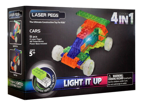 Laser Pegs 4-in-1 Cars Building Set (Toy) (TOYS) TOYS Game