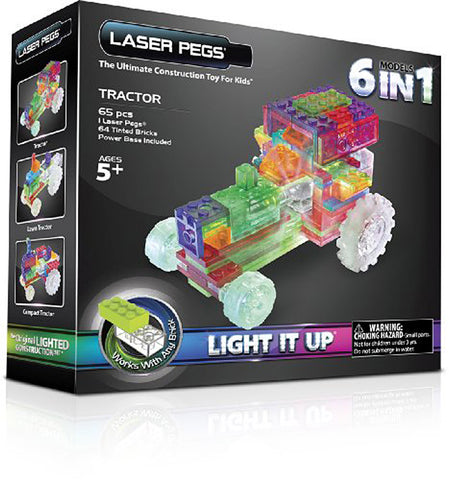 Laser Pegs 6-in-1 Tractor Building Set (Toy) (TOYS) TOYS Game