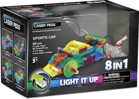 Laser Pegs 8-in-1 Sports Car Building Set (Toy) (TOYS) TOYS Game