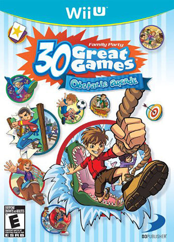 Family Party 30 Great Games - Obstacle Arcade (Trilingual Cover) (NINTENDO WII U) NINTENDO WII U Game