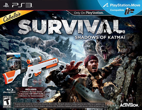 Cabelas Survival - Shadows of Katmai With Gun (Bundle) (Bilingual Cover) (PLAYSTATION3) PLAYSTATION3 Game