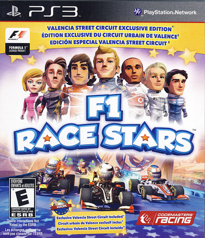 F1 Race Stars - Valencia Street Circuit Edition (Trilingual Cover) (PLAYSTATION3) PLAYSTATION3 Game