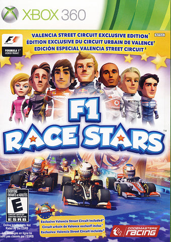 F1 Race Stars - Valencia Street Circuit Edition (Trilingual Cover) (XBOX360) XBOX360 Game