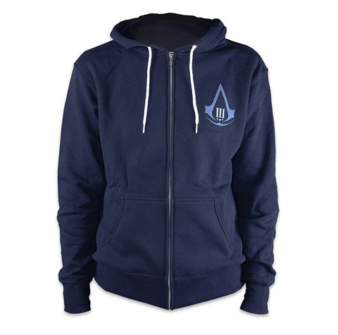 Ubisoft Unisex - Assassin's Creed III - Aveline Hoodie - Small Navy Blue (APPAREL) APPAREL Game