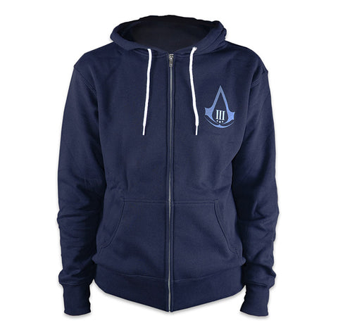 Ubisoft Unisex - Assassin s Creed III - Aveline Hoodie - Large Navy Blue (APPAREL) APPAREL Game