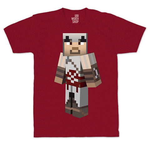 Ubisoft Unisex - Minecraft - Ezio T-Shirt - Medium Red (APPAREL) APPAREL Game