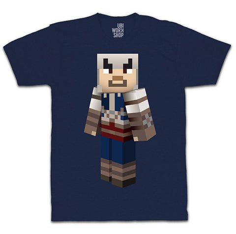 Ubisoft Unisex - Minecraft - Connor T-Shirt - Large Navy Blue (APPAREL) APPAREL Game