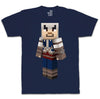 Ubisoft Unisex - Minecraft - Connor T-Shirt - X-Large Navy Blue (APPAREL) APPAREL Game