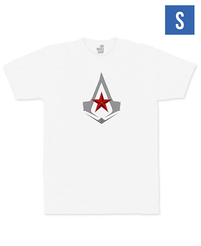 Ubisoft Unisex - Assassin's Creed - The Red Star T-Shirt - Small White (APPAREL) APPAREL Game