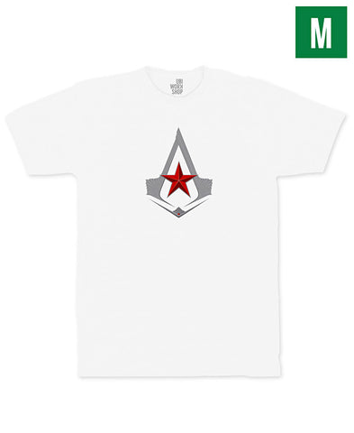 Ubisoft Unisex - Assassin s Creed - The Red Star T-Shirt - Medium White (APPAREL) APPAREL Game