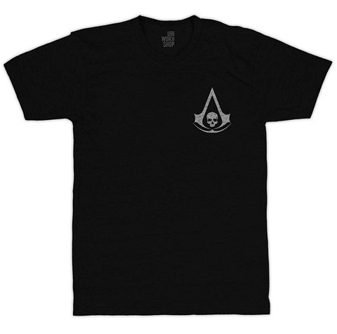 Ubisoft Unisex - Assassin s Creed IV - Black Flag Announcement T-Shirt - Large Black (APPAREL) APPAREL Game
