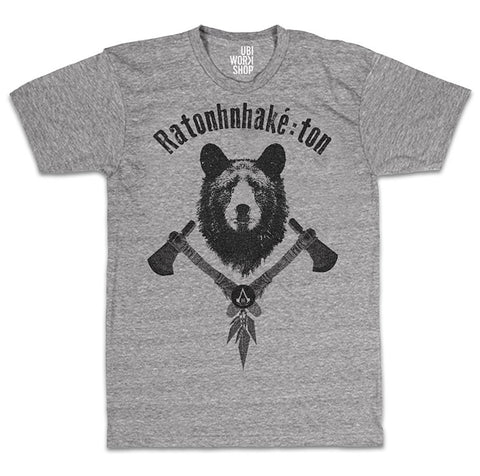 Ubisoft Unisex - Assassin's Creed III - The Tyranny Of King Washington Bear T-Shirt - Medium Grey (APPAREL) APPAREL Game