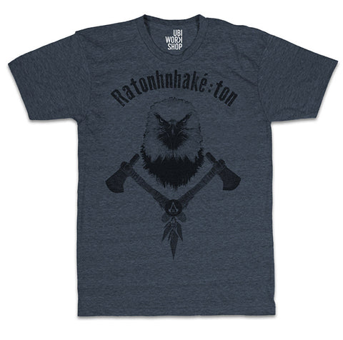 Ubisoft Unisex - Assassin s Creed III - The Tyranny Of King Washington Eagle T-Shirt - Large Navy Bl (APPAREL) APPAREL Game