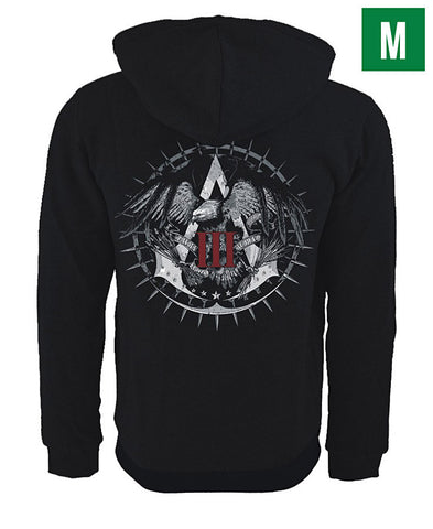 Ubisoft Unisex - Assassin s Creed III - Official Team Hoodie - Medium Black (APPAREL) APPAREL Game