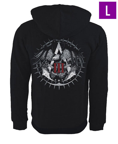 Ubisoft Unisex - Assassin s Creed III - Official Team Hoodie - Large Black (APPAREL) APPAREL Game