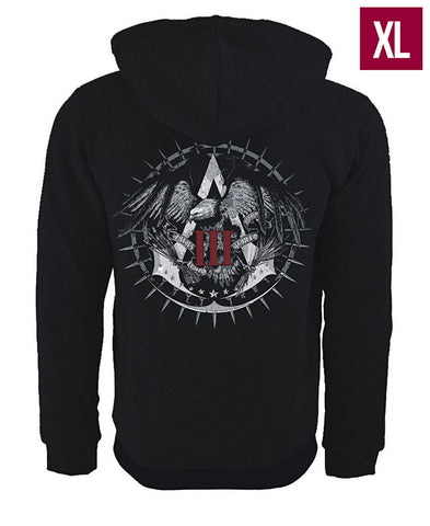 Ubisoft Unisex - Assassin s Creed III - Official Team Hoodie - X-Large Black (APPAREL) APPAREL Game