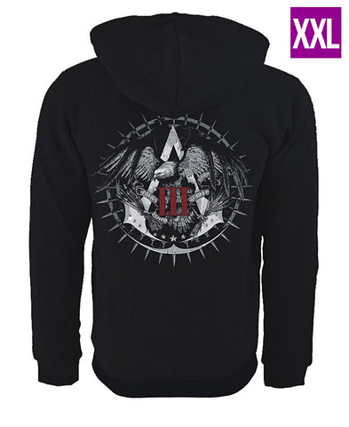 Ubisoft Unisex - Assassin s Creed III - Official Team Hoodie - XX-Large Black (APPAREL) APPAREL Game