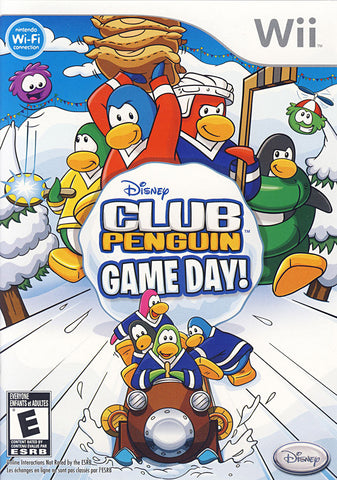 Club Penguin - Game Day! (Bilingual Cover) (NINTENDO WII) NINTENDO WII Game