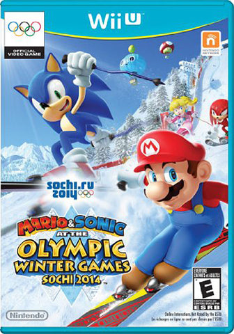 Mario and Sonic at the Sochi 2014 Olympic Winter Games (Trilingual Cover) (NINTENDO WII U) NINTENDO WII U Game