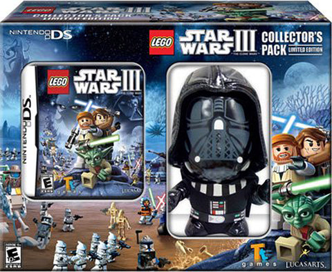 Lego Star Wars III (3) - The Clone Wars (Bundle) (Darth Vader Plush) (DS) DS Game