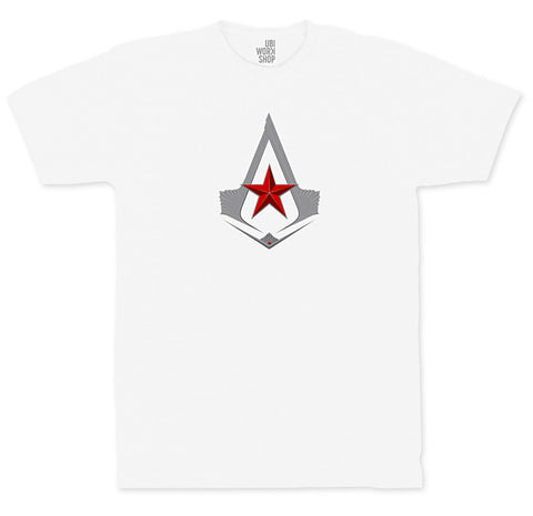 Ubisoft Unisex - Assassin s Creed - The Red Star T-Shirt - XX-Large White (APPAREL) APPAREL Game
