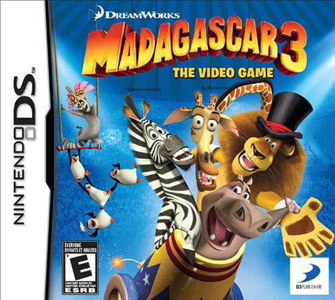 Madagascar 3 - The Video Game (Trilingual Cover) (DS) DS Game