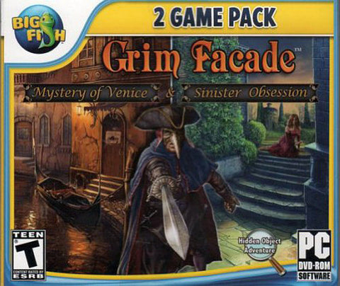 Grim Facade - Mystery of Venice and Sinister Obsession (Dual Pack) (Jewel Case) (PC) PC Game