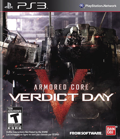 Armored Core - Verdict Day (Bilingual Cover) (PLAYSTATION3) PLAYSTATION3 Game