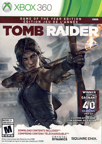 Tomb Raider - Game of the Year (French Version Only) (XBOX360) XBOX360 Game