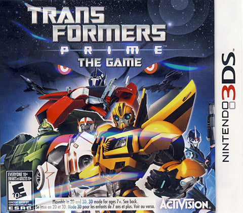 Transformers Prime - The Game (Bilingual Cover) (3DS) 3DS Game