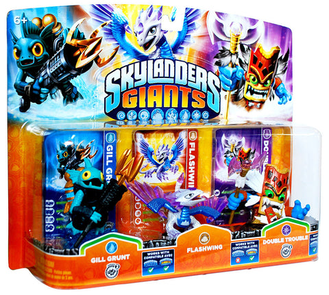 Skylanders Giants Triple Pack (Gill Grunt / Flashwing / Double Trouble) (Bilingual Cover) (TOYS) TOYS Game