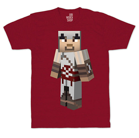 Ubisoft Unisex - Minecraft - Ezio T-Shirt - Small Red (APPAREL) APPAREL Game