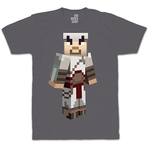 Ubisoft Unisex - Minecraft - Altair T-Shirt - XX-Large Charcoal (APPAREL) APPAREL Game