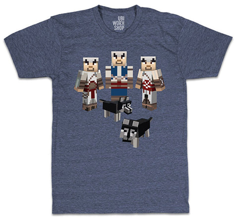 Ubisoft Unisex - Minecraft - Assassin s T-Shirt - XX-Large Navy Heather (APPAREL) APPAREL Game