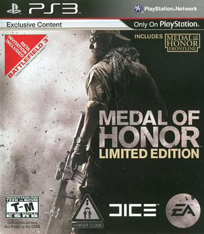 Medal of Honor - Limited Edition (PLAYSTATION3) PLAYSTATION3 Game