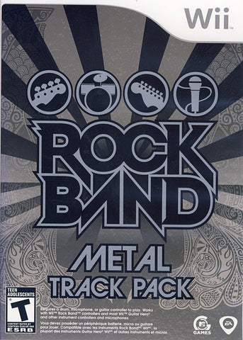 Rock Band - Metal Track Pack (Bilingual Cover) (NINTENDO WII) NINTENDO WII Game