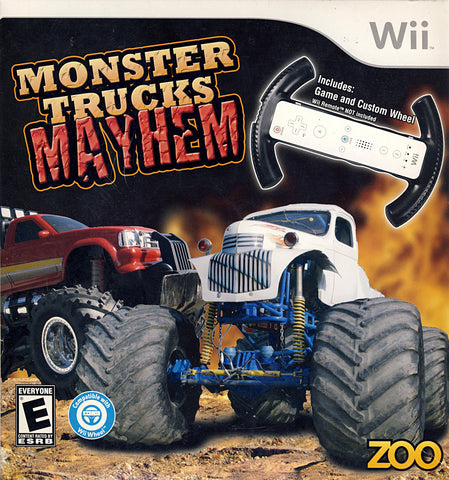 Monster Trucks Mayhem (Include Racing Wheel) (NINTENDO WII) NINTENDO WII Game
