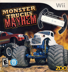 Monster Trucks Mayhem (Include Racing Wheel) (NINTENDO WII)
