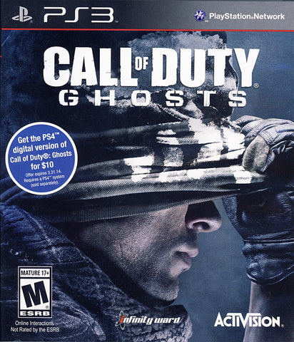 Call of Duty - Ghosts (Free Fall Bonus Map included) (PLAYSTATION3) PLAYSTATION3 Game