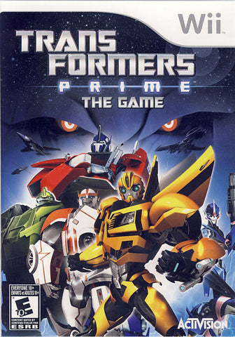 Transformers Prime - The Game (Bilingual Cover) (NINTENDO WII) NINTENDO WII Game