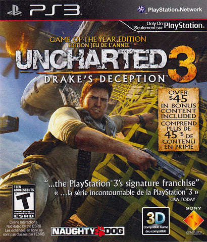 Uncharted 3: Drake s Deception - Game of the Year Edition (Bilingual Cover) (PLAYSTATION3) PLAYSTATION3 Game