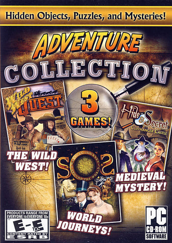 Adventure Collection (3 Games) Hidden Objects, Puzzles, & Mysteries! (PC) PC Game